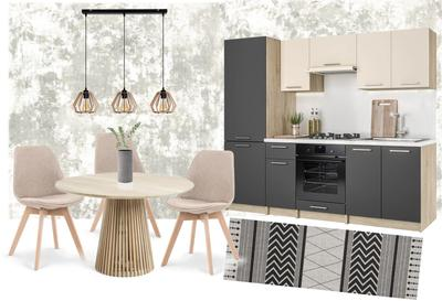 Moderná kuchyňa s drevenými prvkami