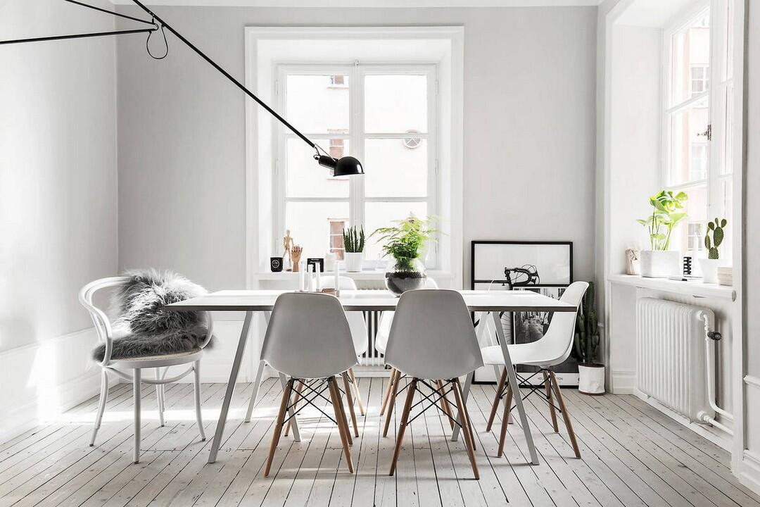 V škandinávskych jedálňach sa často stretnete s ikonickým stoličkami DSW značky Vitra