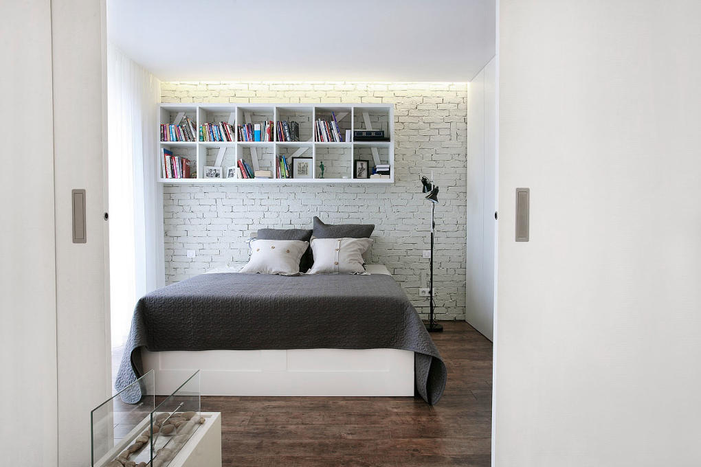 Útulná spálňa, ktorú navrhol Muur