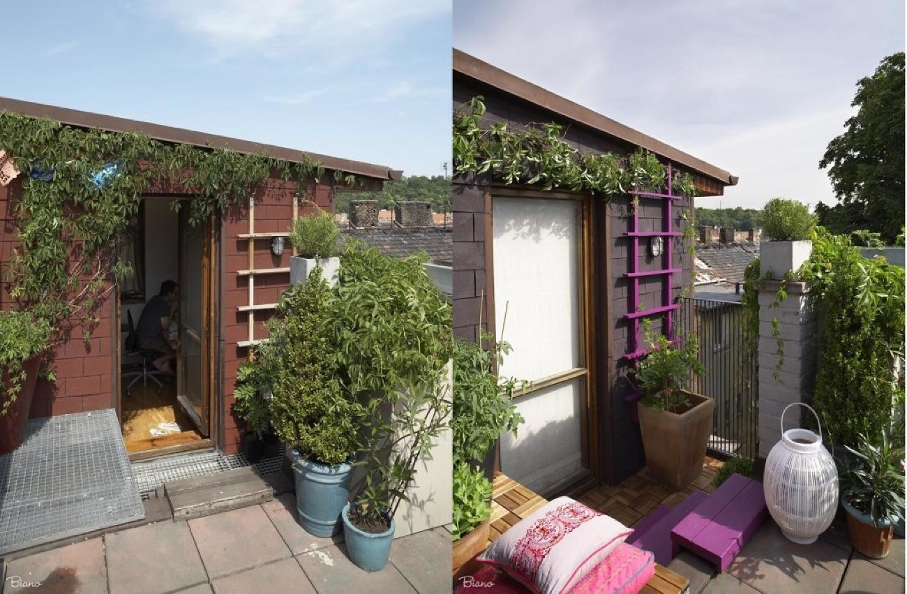 Stačilo vhodne zvoliť farby, pridať drevené rohože a vankúše a terasa pre príjemné chvíle bola na svete.