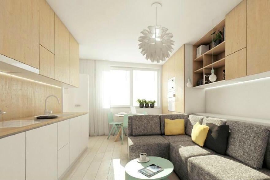 Svetlý interiér pôsobí hneď priestrannejšie a vzdušnejšie. Realizácia od Kivvi architects