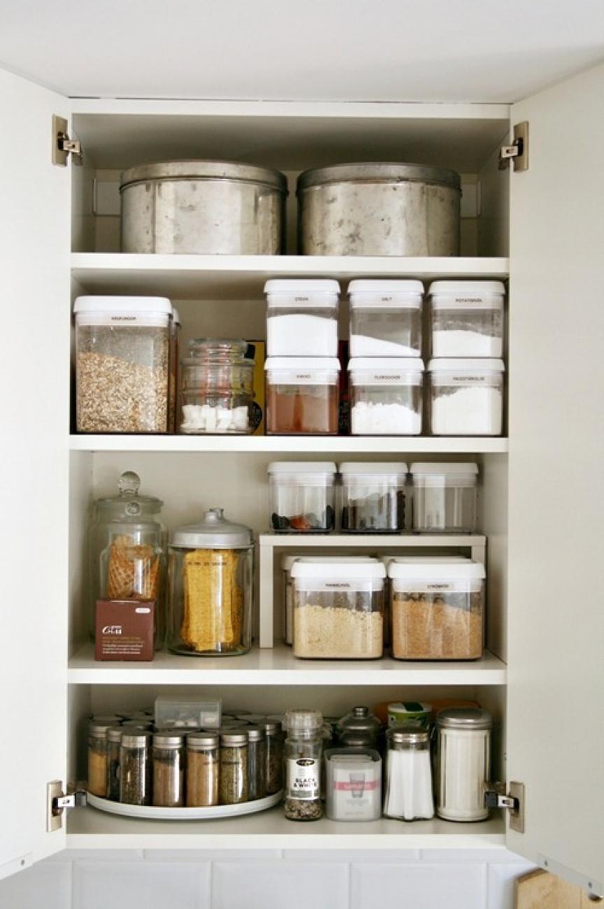 Organizácia potravín a korenia v špajze