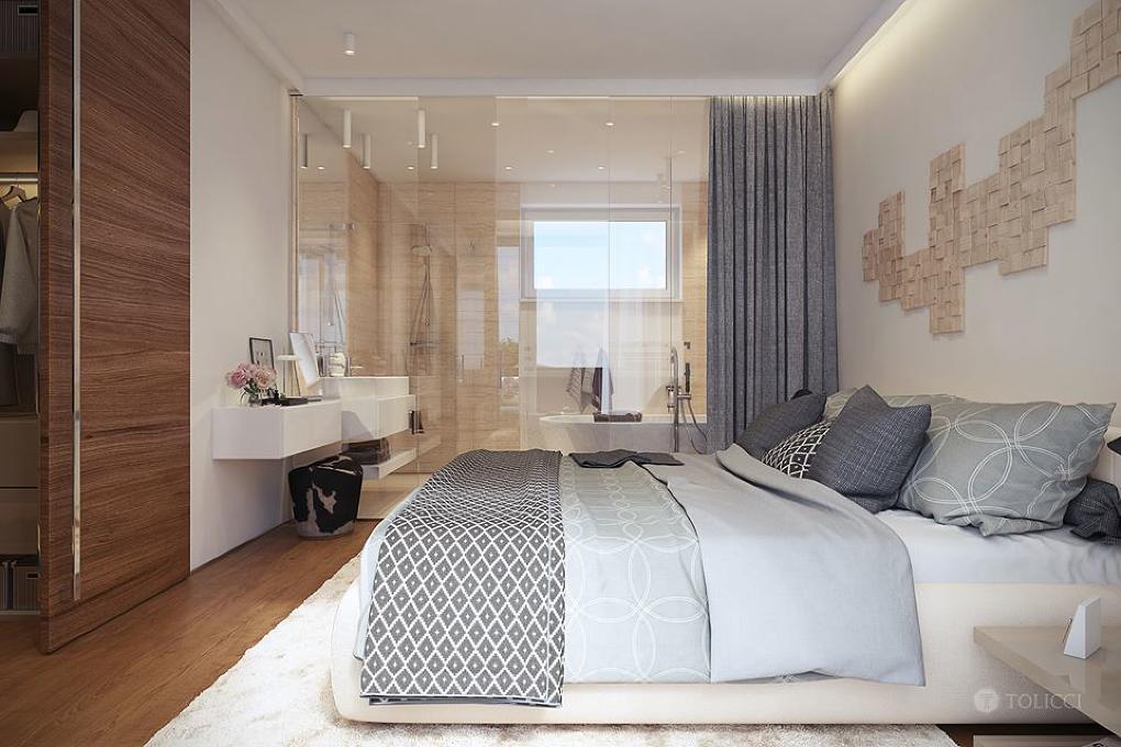 Luxusná spáľna v rodinné rezidencii v Bratislave od TOLICCI