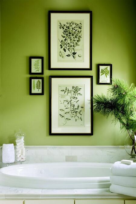 Kúpeľňa v zelenom odtieni Greenery, farbe roku 2017, láka k naozaj dlhým kúpeľom, nemyslíte?