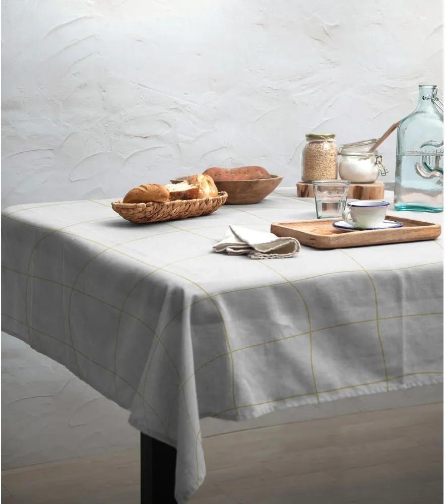 Obrus Linen Couture Beige Lines, 140 x 200 cm