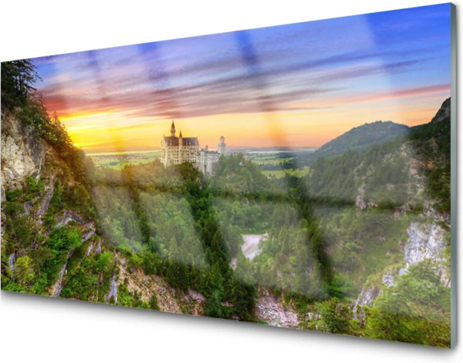 Obraz na skle Sklenený Hory Príroda