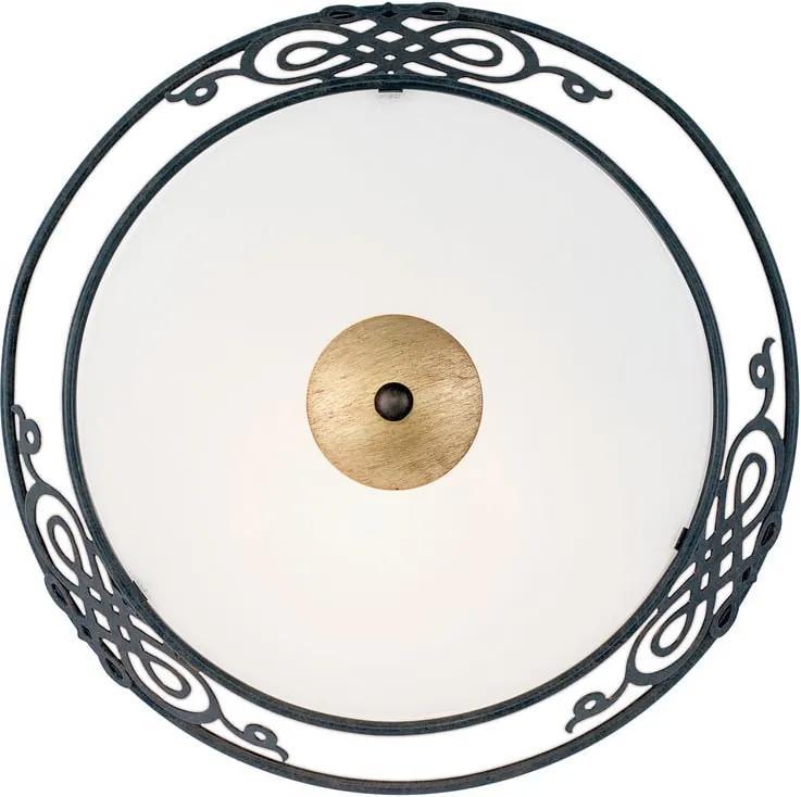Interierové rustikálne svietidlo EGLO MESTRE čierna / zlatá 86711
