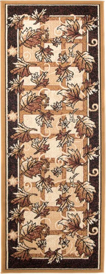 Kusový koberec PP Finestre béžovohnedý atyp, Velikosti 70x250cm