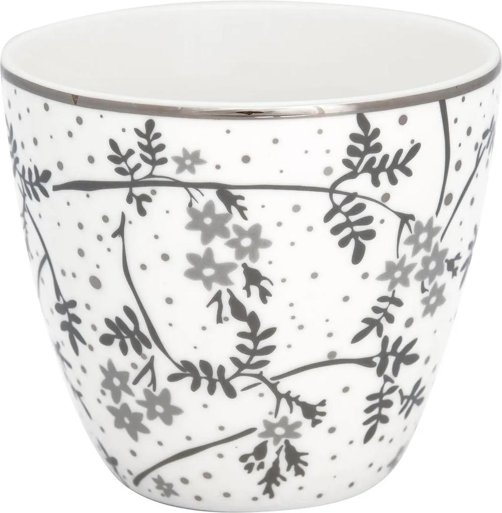 GREEN GATE Porcelánový Latte cup Amira White 350 ml