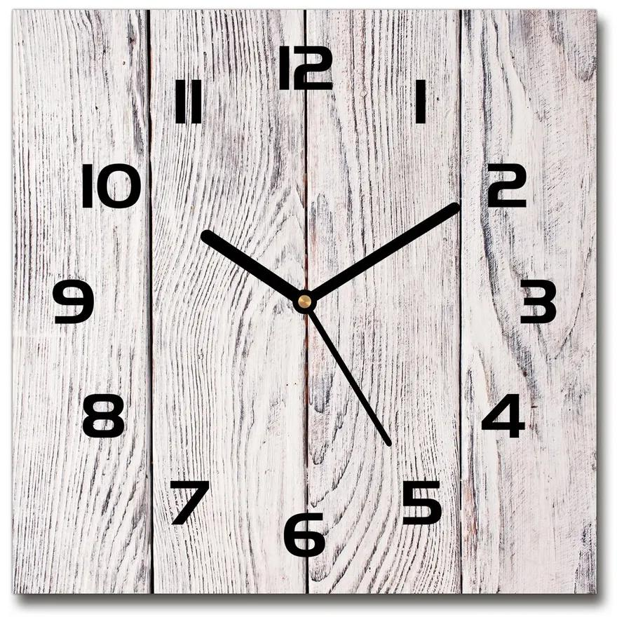 Sklenené hodiny štvorec Drevená stena pl_zsk_30x30_f_75817885