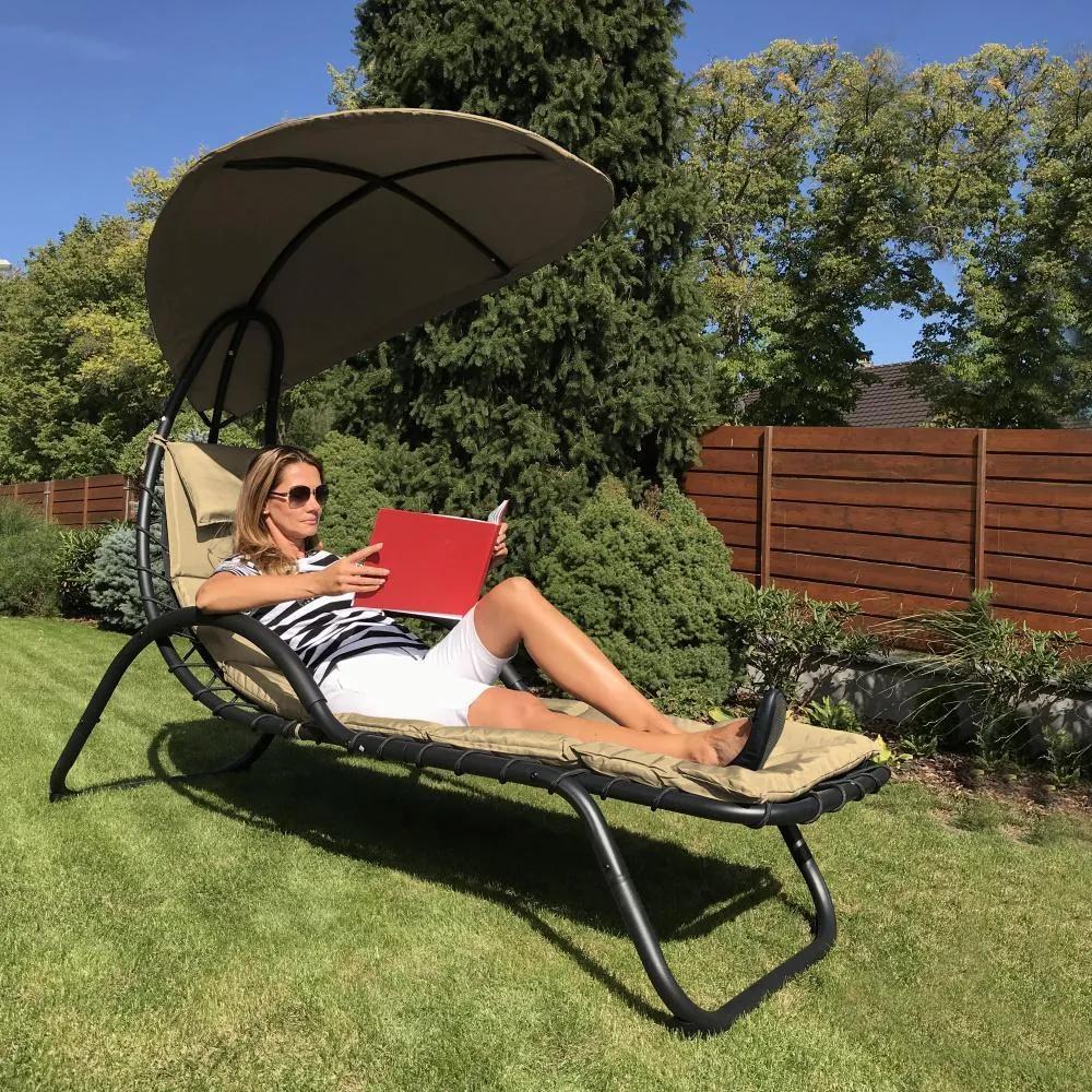 Relaxační lehátko Avenberg Francis - Béžová