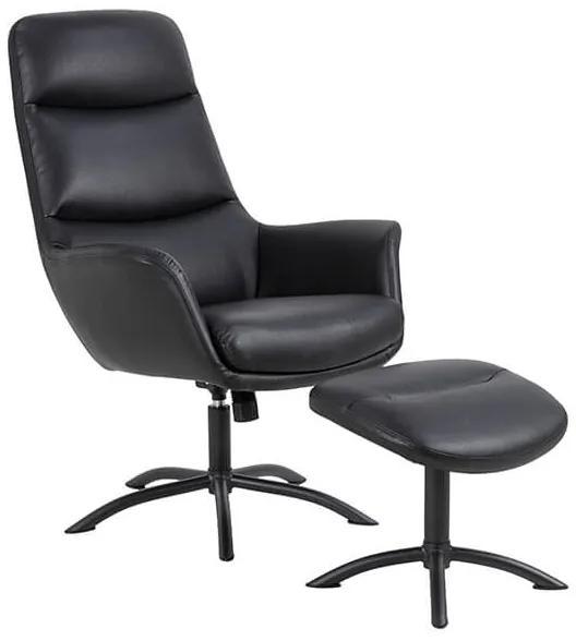 Dalby relaxačné kreslo s podnožkou čierna / čierna