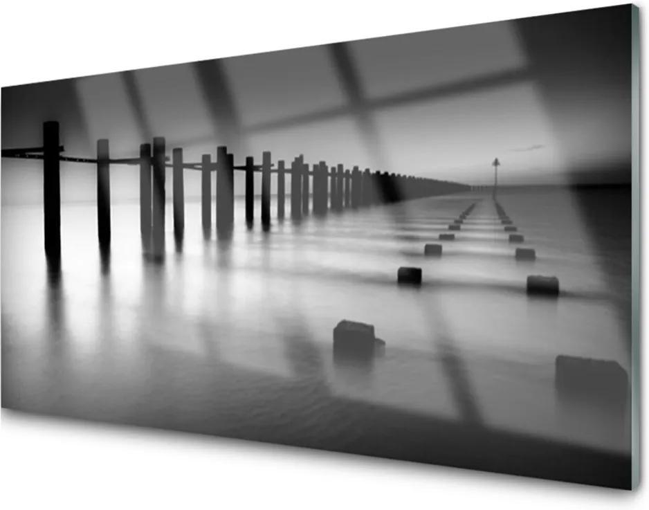 Obraz na akrylátovom skle Hmla Mólo Architektúra