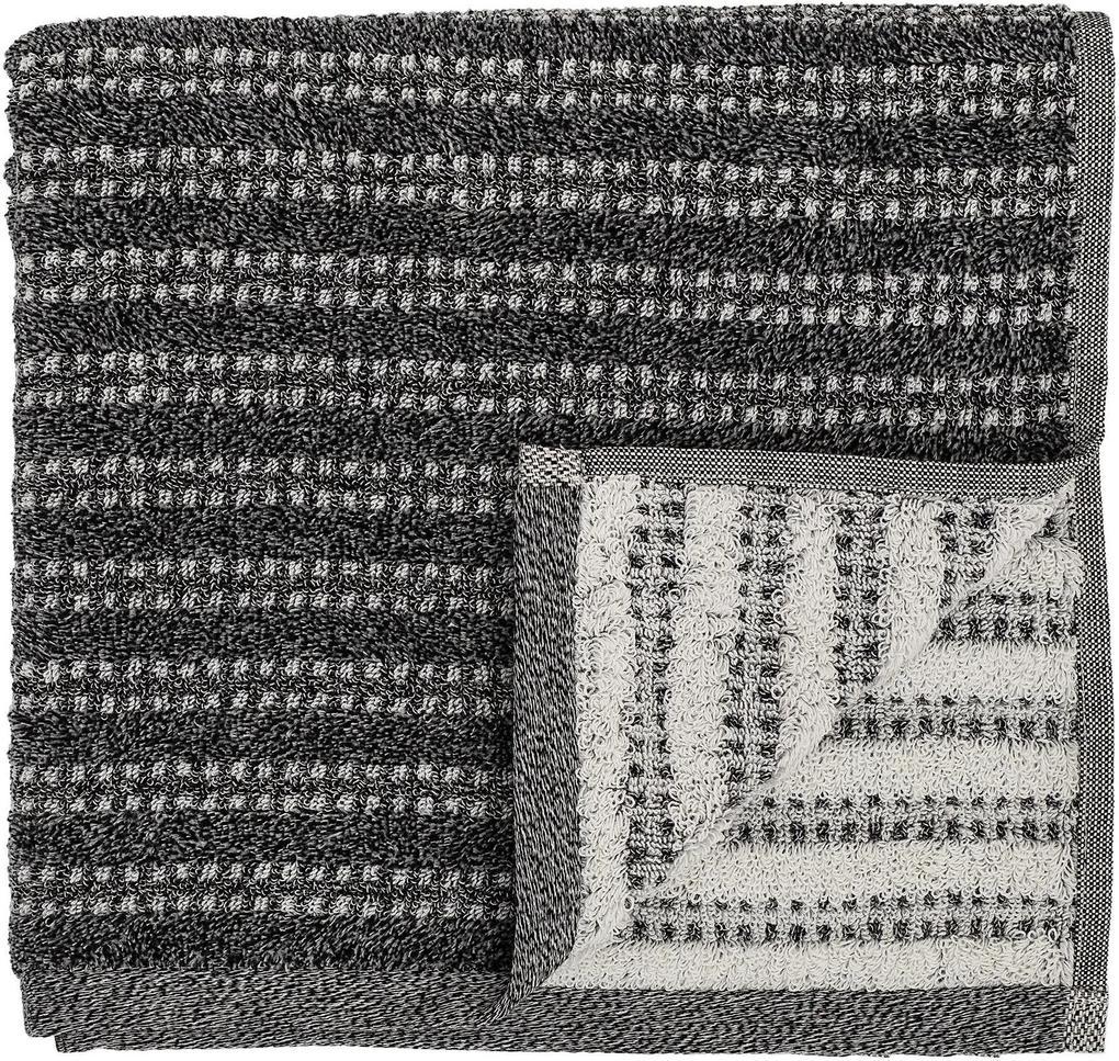 Bloomingville Froté uterák Black 140x70 cm