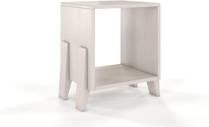 Biely nočný stolík z borovicového dreva Skandica Visby Gdansk