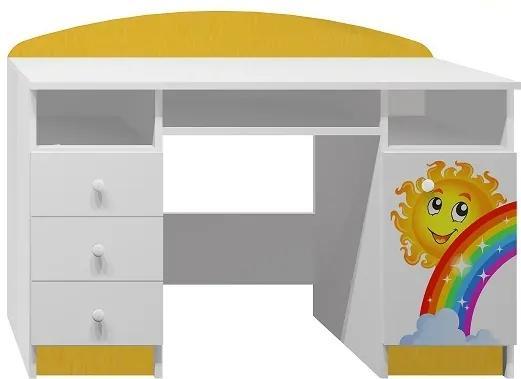 MAXMAX Písací stôl DUHA A SLUNÍČKO - TYP B pre dievča|pre chlapca|pre všetkých