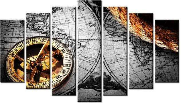 Tlačený obraz Historická mapa 140x80cm 1365A_7B