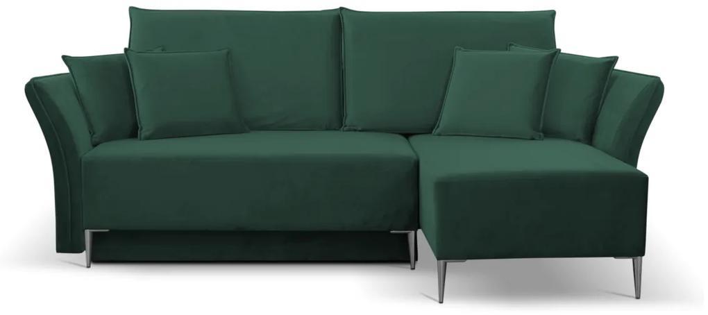 Expedo Rohová sedacia súprava GREBI, 247x102x142, tiffany 10, pravá