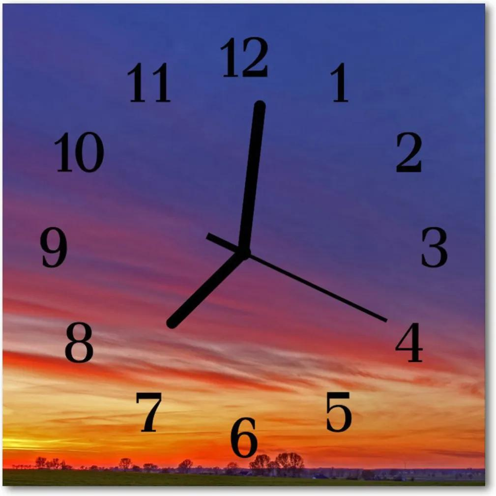 Skleněné hodiny čtvercové pole