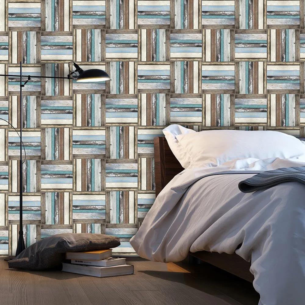 Fototapeta - Wooden weave of colors 50x1000