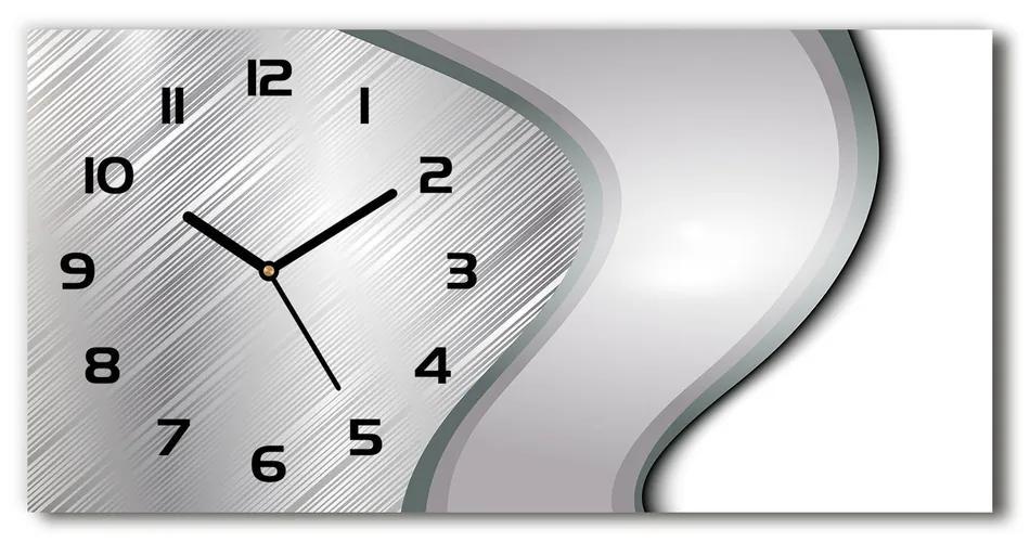 Sklenené hodiny na stenu Kokova abstrakcie pl_zsp_60x30_s_173147762