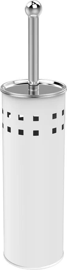 Aqualine Simple Line WC kefa válcová s otvormi biela