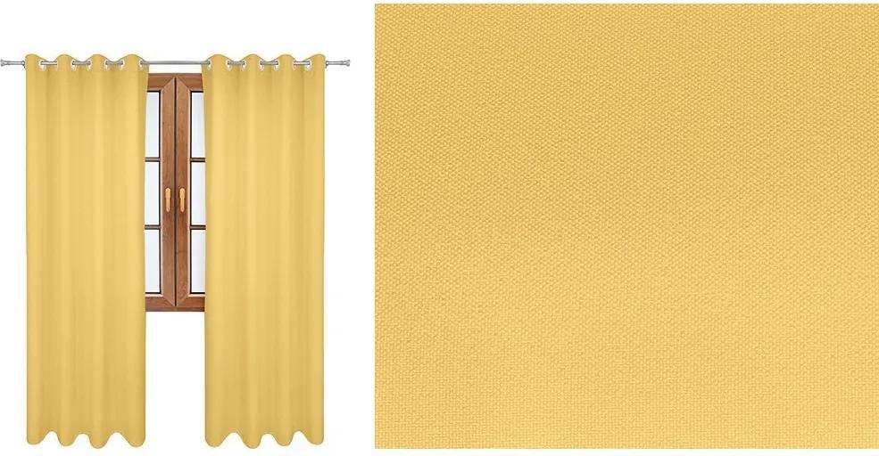 Taliansky hotový záves Vesardi  svetlo žltý ( Záves Vesardi s)