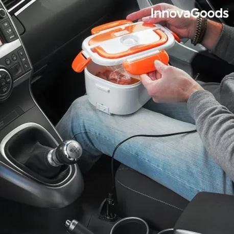 V0100815 InnovaGoods Elektrická krabička na jedlo do auta InnovaGoods 40W 12 V bielo-oranžová