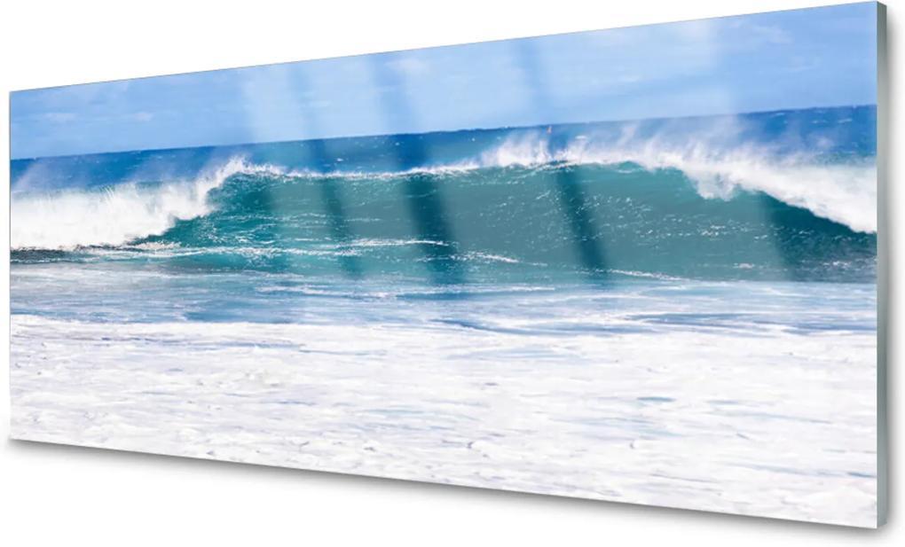 Sklenený obklad Do kuchyne More Vlna Voda Oceán
