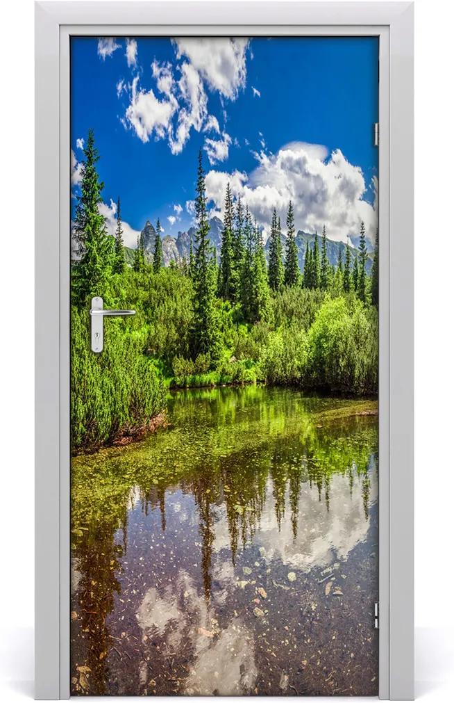 Fototapeta na dvere  jazero v horách