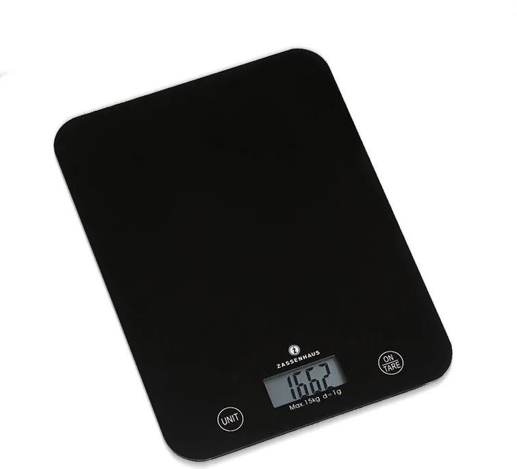Kuchynská váha Balance Zassenhaus XL čierna do 15 kg