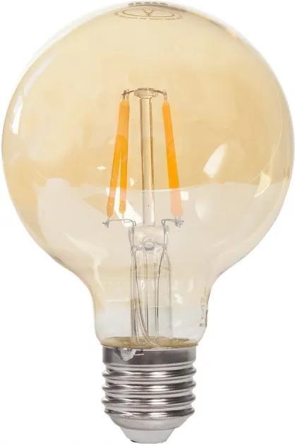 Tesla - LED retro žiarovka G80 4W Gold