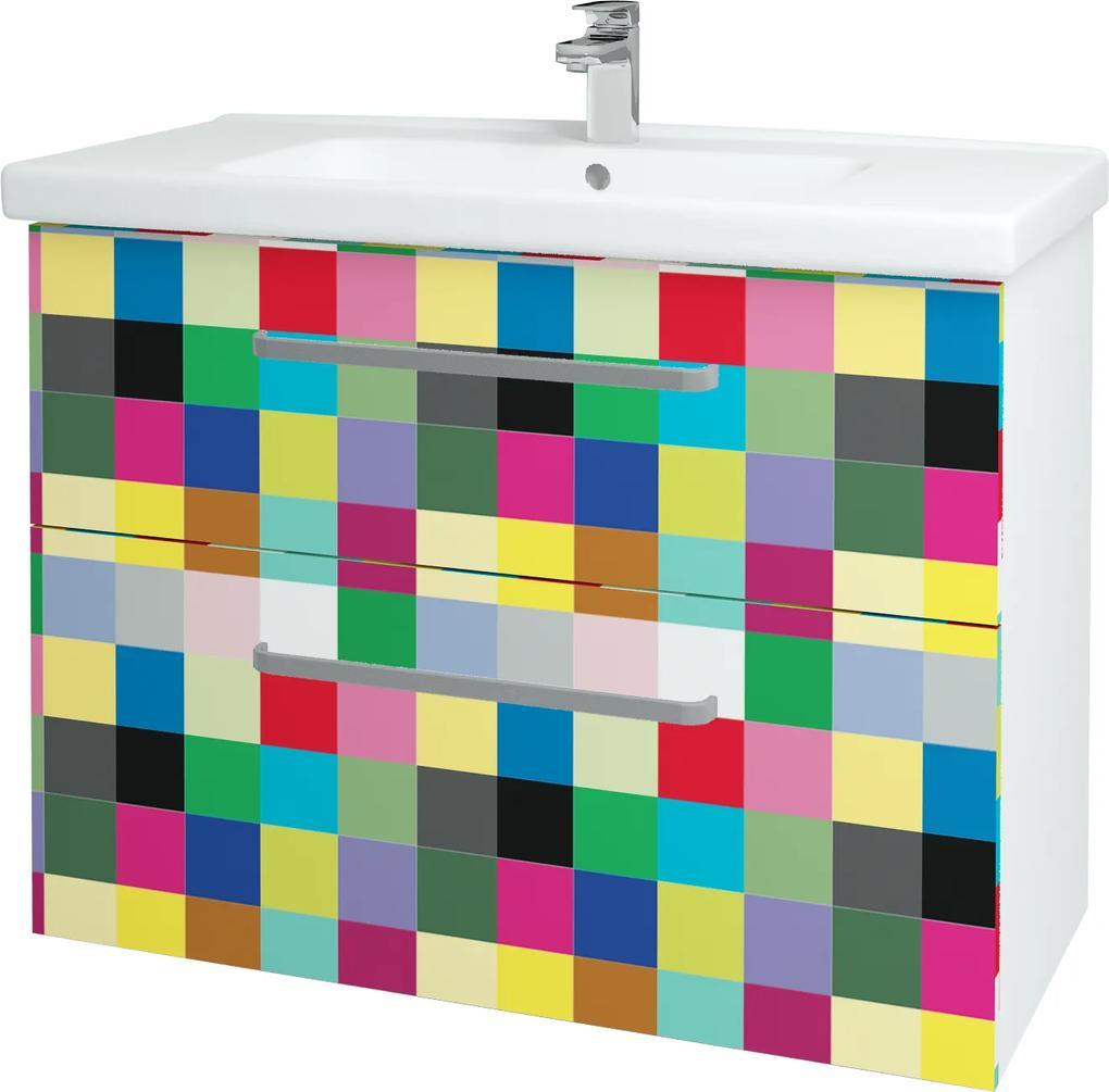 Dřevojas - Koupelnová skříň BIG INN SZZ2 100 - N01 Bílá lesk / Úchytka T01 / IND Individual (133221A)