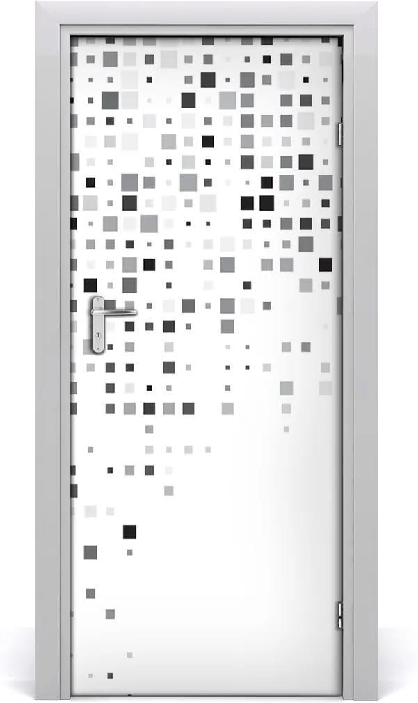 Samolepící fototapeta na dveře Abstrakce čtverce
