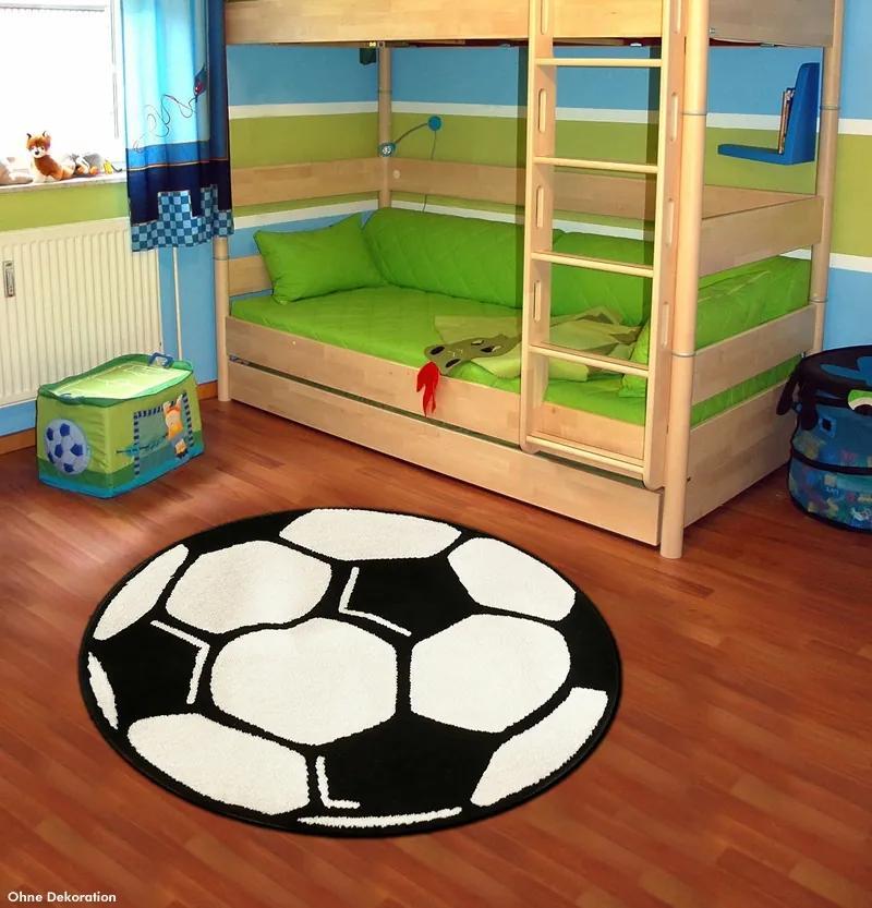 Hanse Home Collection koberce Kusový koberec Prime Pile Fussball 100015 - 150x150 (průměr) kruh cm