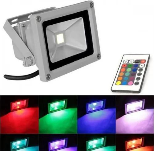 LED RGB LED reflektor 10W s diaľkovým ovládaním
