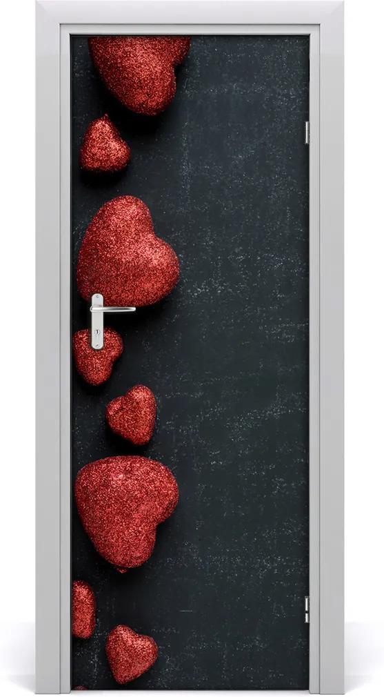 Fototapeta na dvere  srdce na tabuli