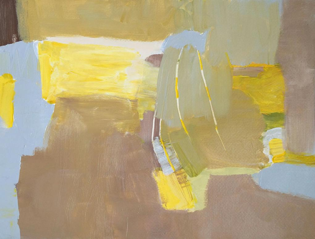 BROWN FIELDS – maľba 40 x 30 cm