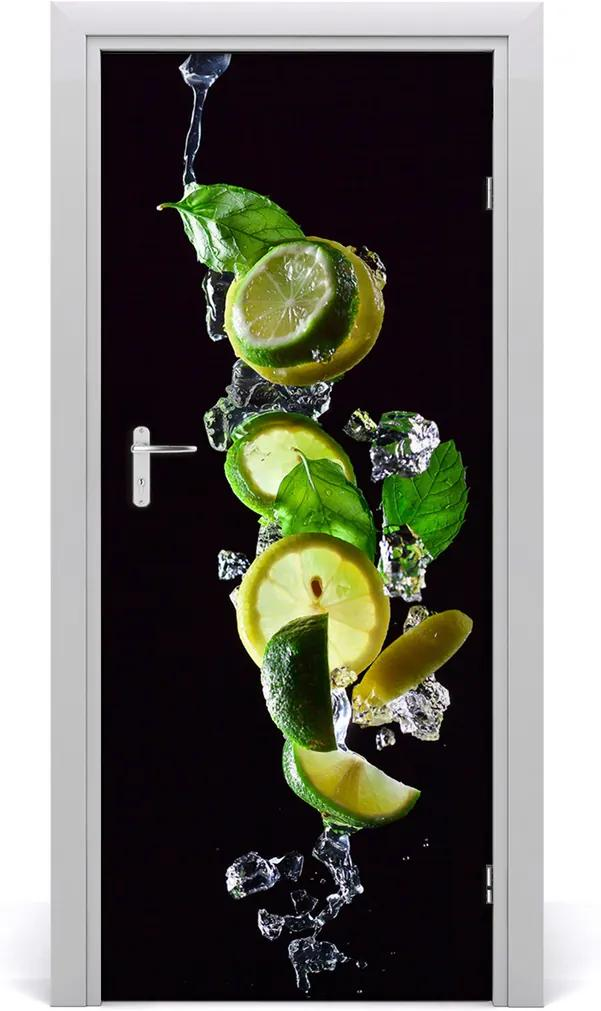 Fototapeta na dveře samolepící Limetka a citron