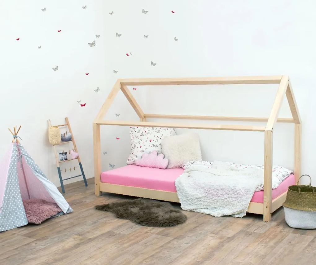 MAXMAX Detská Domčekové posteľ z masívu 200x90 cm TEREZA