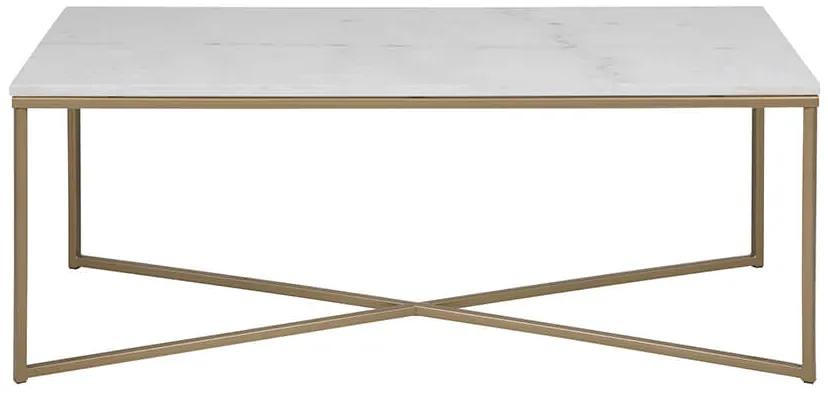 Alisma konferenčný stolík 120x60 biela / zlatá