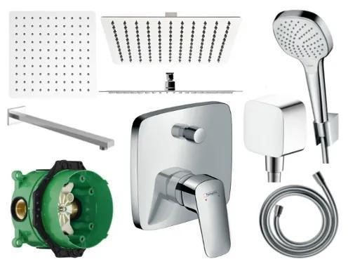 Sprchový set podomítkový HANSGROHE LOGIS - 30 CM (mix výrobců)