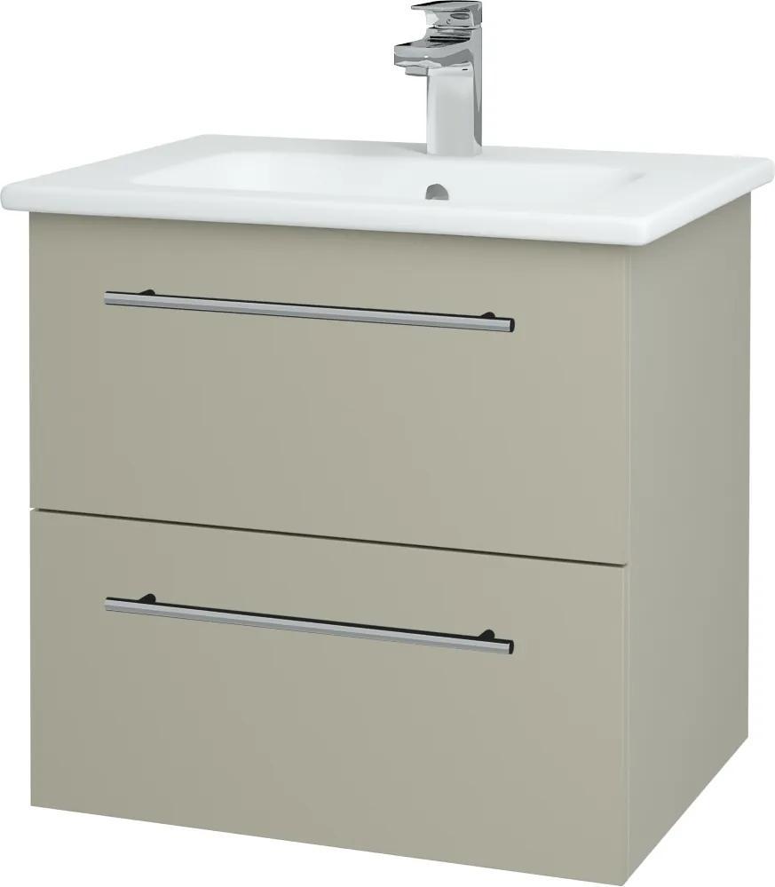 Dřevojas - Koupelnová skříň GIO SZZ2 60 - L04 Béžová vysoký lesk / Úchytka T02 / L04 Béžová vysoký lesk (146399B)