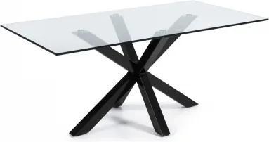 RONY BLACK GLASS stôl 180 x 100 cm