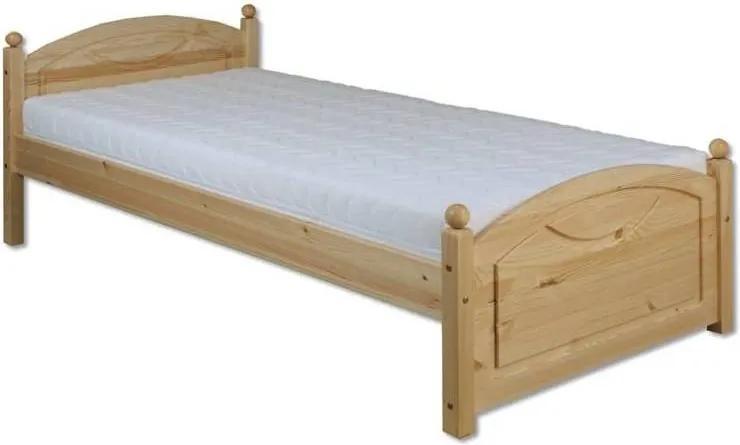 MAXMAX Posteľ z masívu borovice - jednolôžko 200x90 cm - MAX 126 200x90 ÁNO