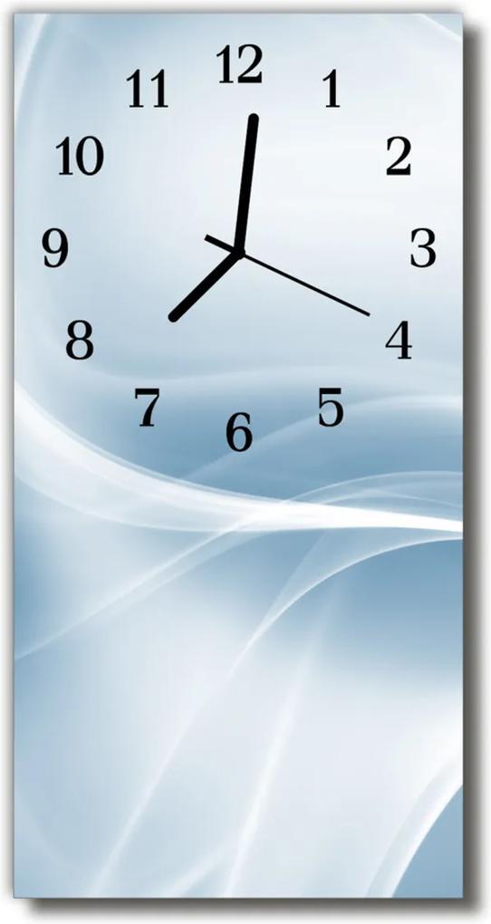 Skleněné hodiny vertikální Umělecký vzor stříbrný