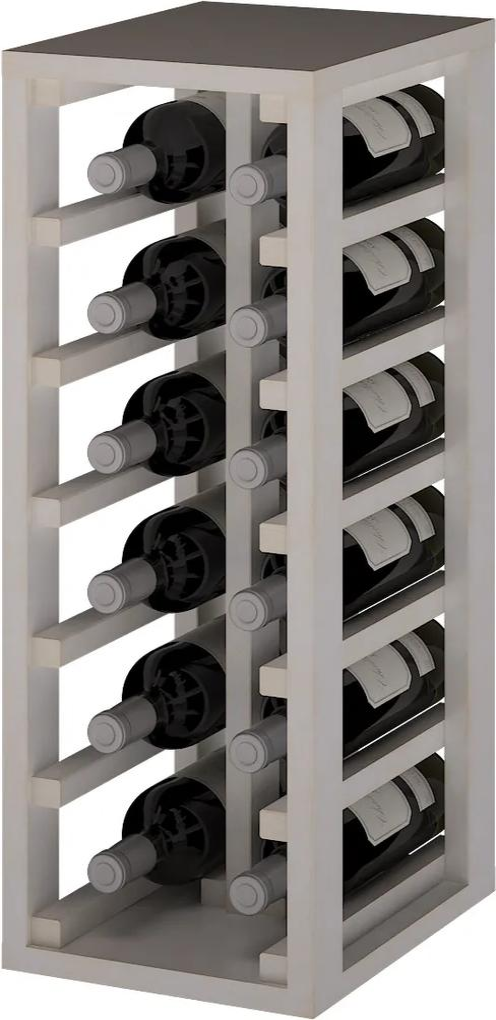 Regál na víno PETÍN I Materiál a odtieň: Borovice s bielym nátěrem