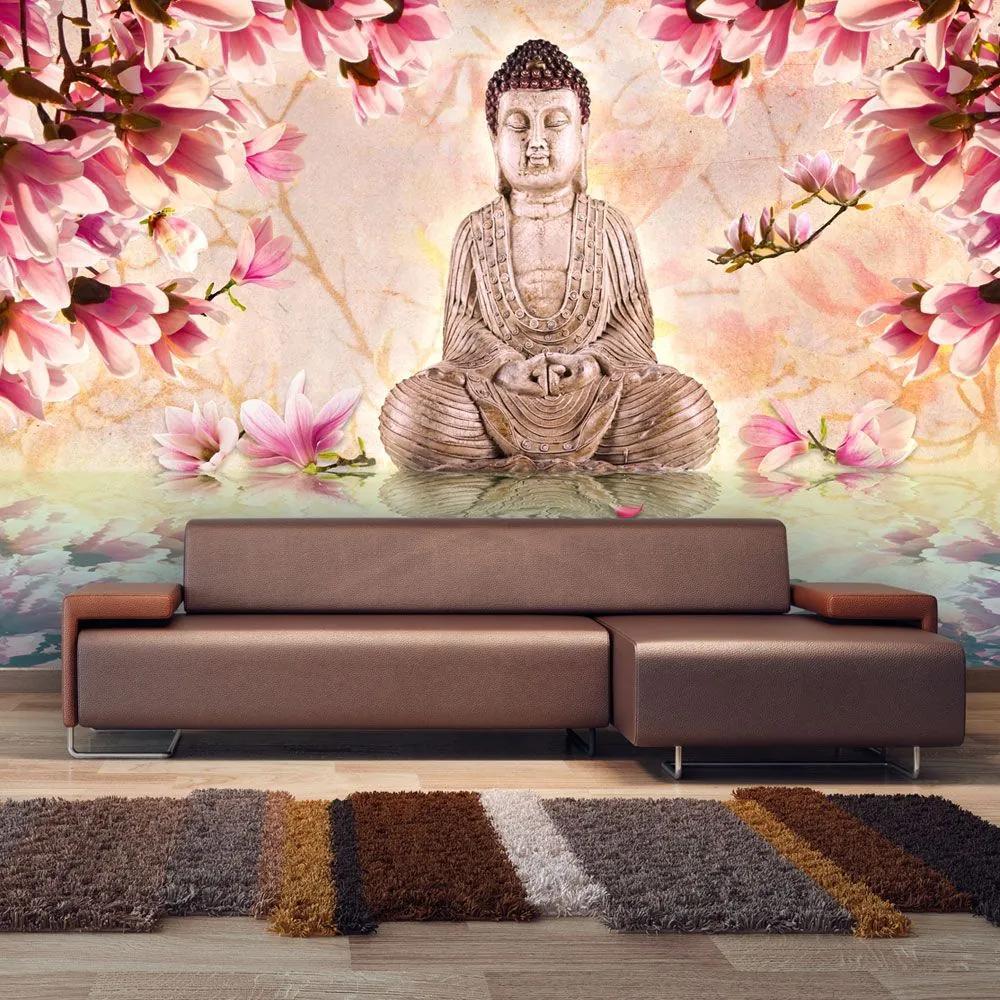 Fototapeta - Buddha and magnolia 450x270
