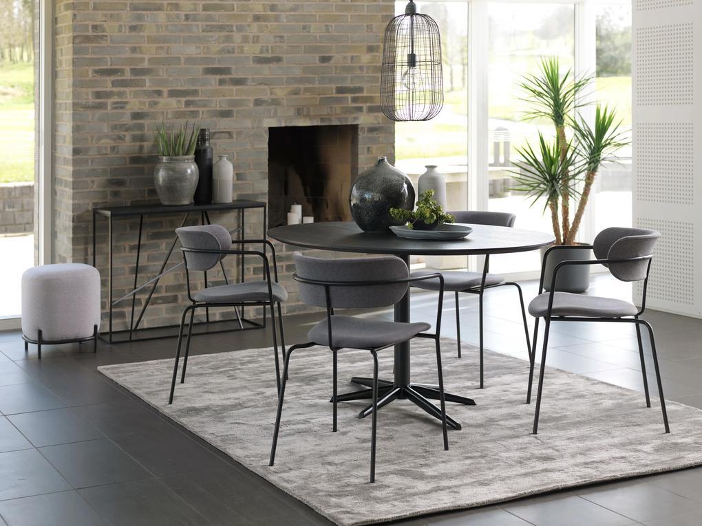 Bighome - Jedálenský stôl VEMA 110 cm, čierna