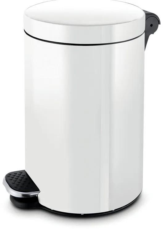 Alda Nášľapný kôš 5 L, lakovaný biely